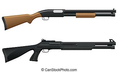 fusil chasse, illustration, vecteur