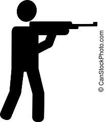 fusil chasse, tir