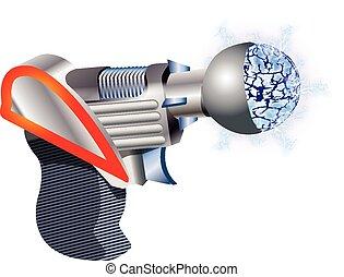 fusil, espace