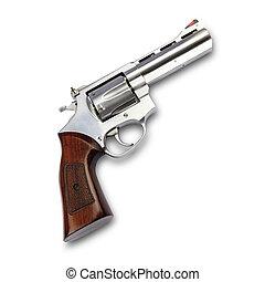 fusil, fond, isolé, blanc