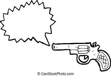 fusil fusillade, dessin animé