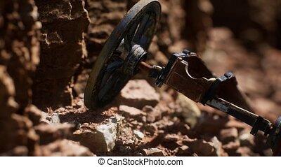 fusil, historique, pierre, ancien, canyon