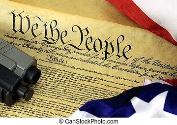 fusil main, constitution américaine