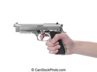 fusil, point