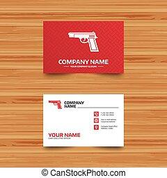 fusil, signe, icon., armes feu, arme, symbole.