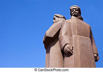 fusileros, riga, letón, monumento