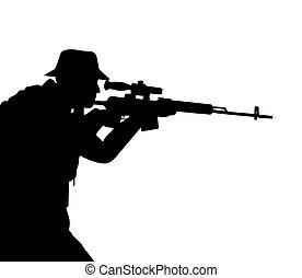 fusileros, silueta