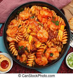 Fusilli Shrimp Pasta