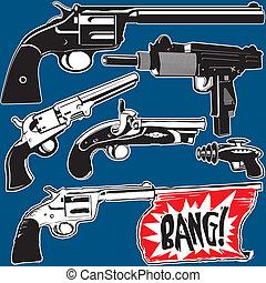 fusils, main