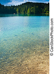Fusine Lower Lake - View of lower lake in Fusine, Tarvisio,...
