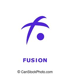 Fusion Cryptocurrency Coin Sign Isolated