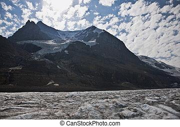 fusione, icefield, -, jasper parco nazionale, -, alberta, -, canada
