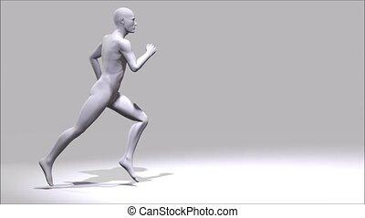 futás, ember