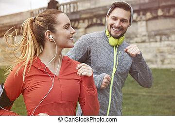 futás, irány, egészséges, tart