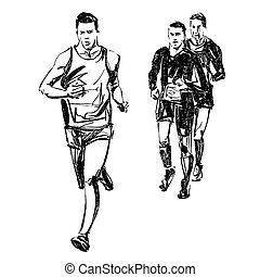 futás, rajz, verseny