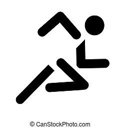 futás, sport jelkép