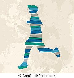 futás, szüret, ember, sokszínű