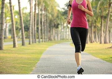 futó, atléta, futás