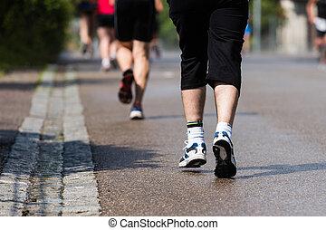 futó, maratoni futás
