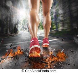 futó, versenyképes