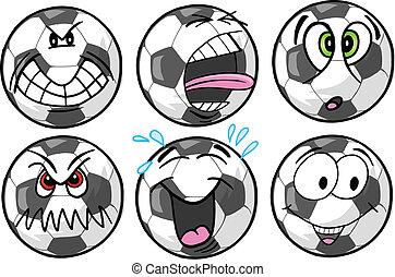 futball, érzelem, sport icons