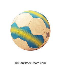 futball, öreg, labda