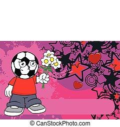 futball, background4, karikatúra, kölyök