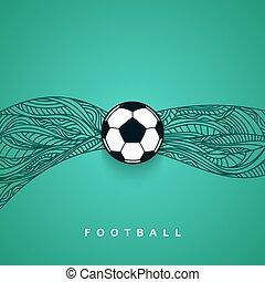 futball, bajnokság, labdarúgás, háttér., labda, 2016, transzparens, euro