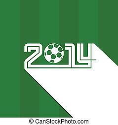 futball, brazília, háttér, 2014
