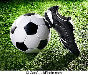 futball, cipők, labda