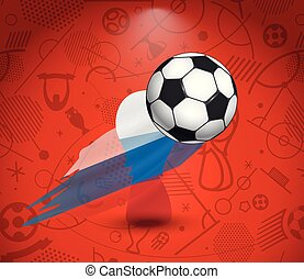 futball, csésze, vektor, fogalom