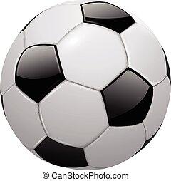futball, elszigetelt, labda