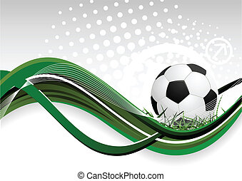 futball, elvont, labda, háttér