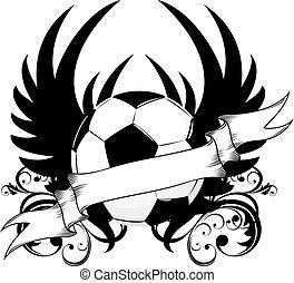 futball, embléma, befog