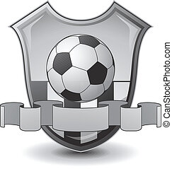 futball, embléma, pajzs