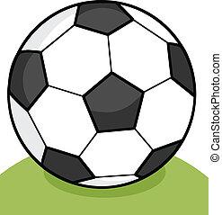 futball, fű, labda