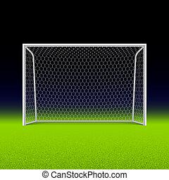 futball, fekete, gól