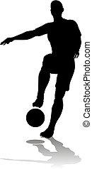 futball foci, árnykép, játékos