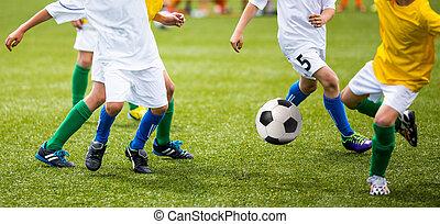 futball foci, játék, helyett, gyerekek