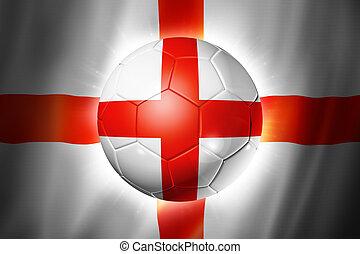 futball foci, labda, noha, anglia, lobogó