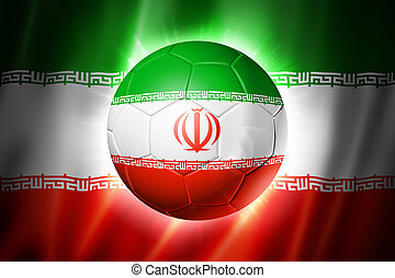 futball foci, labda, noha, iran lobogó