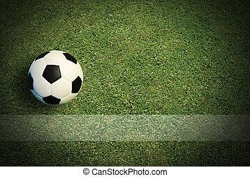 futball foci, mező, -ban, labdarúgás, stadion