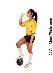 futball, girl.