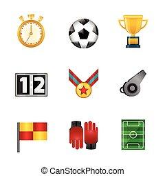 futball, gyakorlatias, ikonok