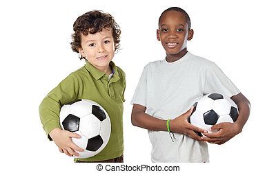 futball, gyerekek, labda