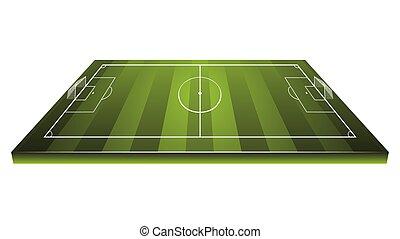 futball, háttér, mező