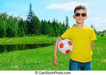 futball játékos, kölyök