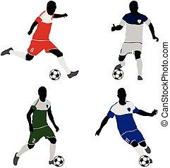 futball játékos, körvonal