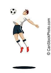 futball játékos, noha, ball.
