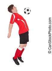 futball játékos, noha, labda